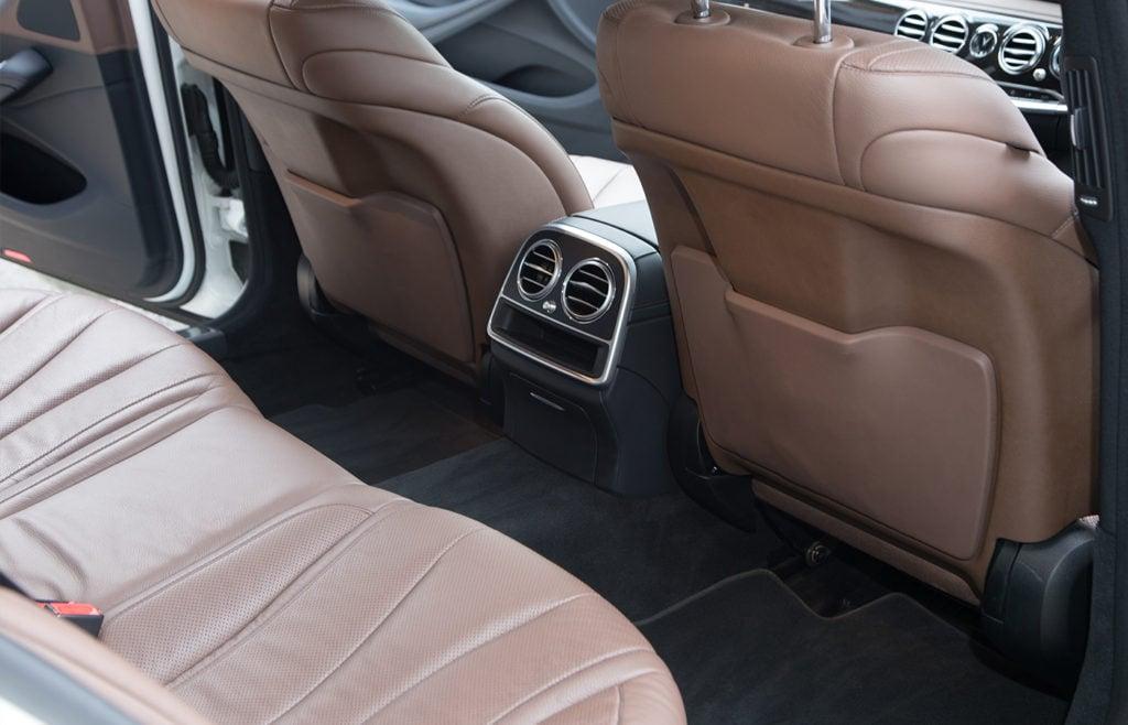 MercedesSClassWhiteBackLegRoom