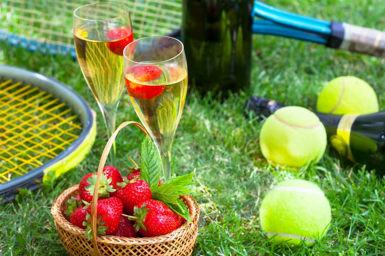 Strawberries and champagne during Wimbledon